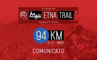 Etna Trail 2019, 94km – Variazione percorso