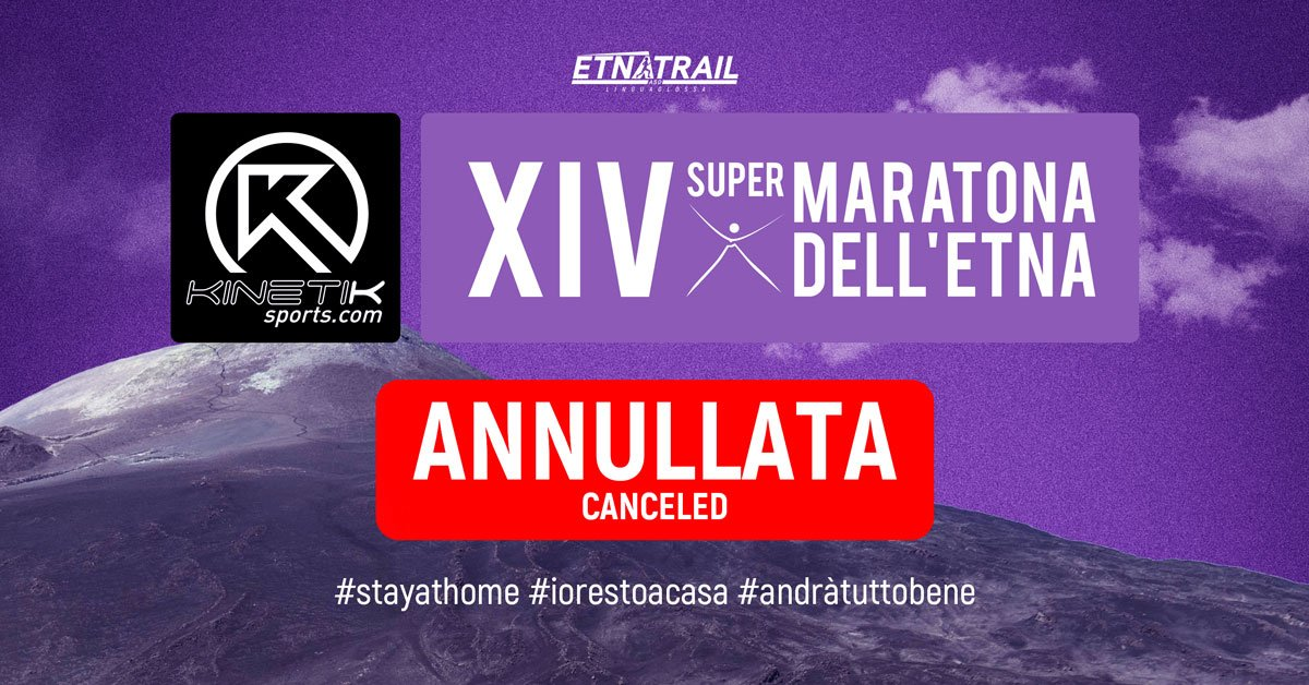 SuperMaratona dell'Etna 2020 Canceled