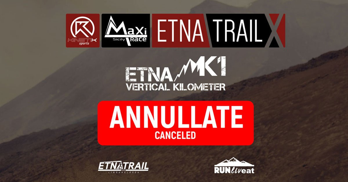 Etna Trail 2020 and Etna k1 2020 Canceled
