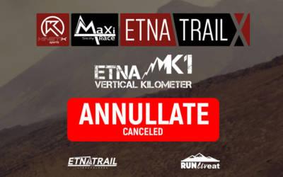 Annullate Etna Trail 2020 e Etna K1 2020